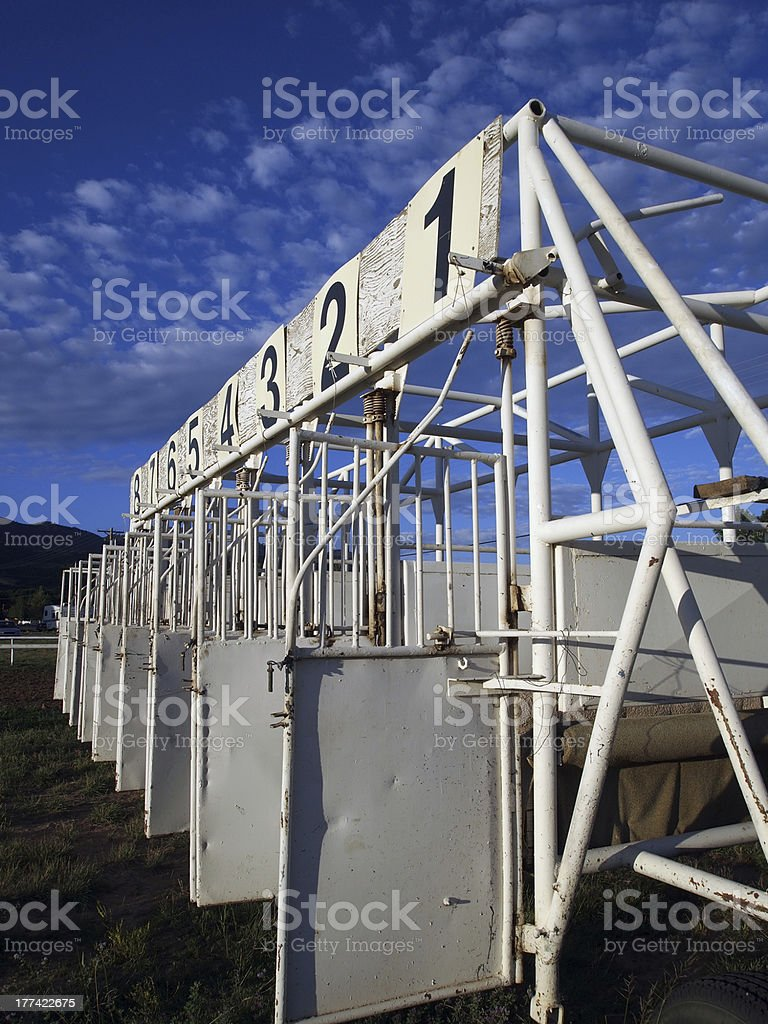 Race Gate stock photo