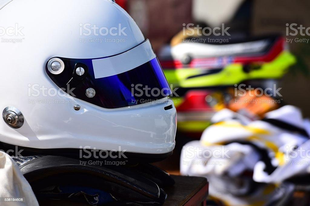 race / helmet stock photo