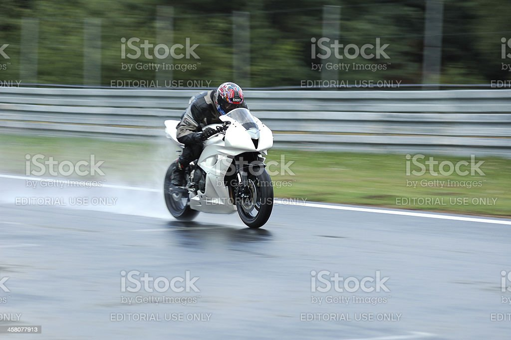 Race in the rain royalty-free stock photo