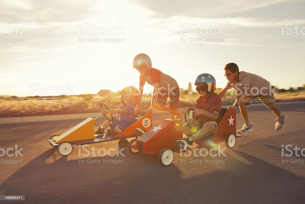 Race into the Sunset stock photo