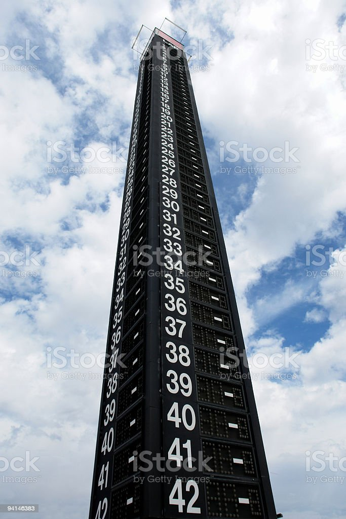 Race Lap Counter royalty-free stock photo