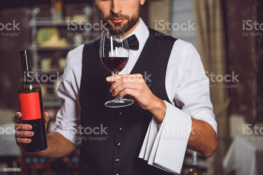 Race of wine in one glass stock photo