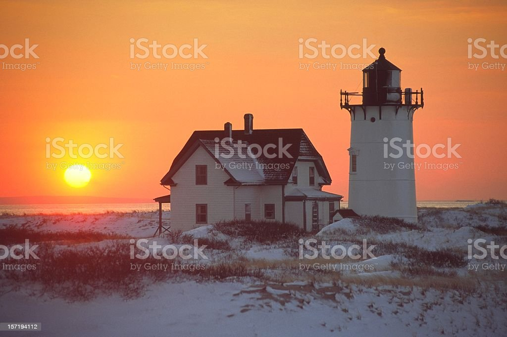 Race Point Lighthouse Cape Cod royalty-free stock photo