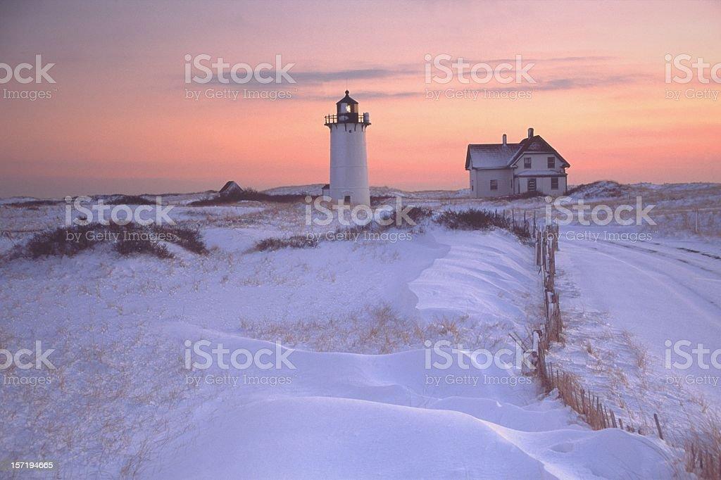 Race Point Lighthouse Cape Cod stock photo
