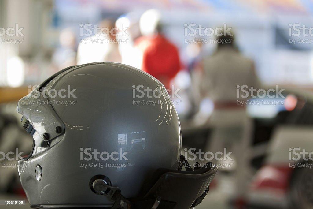 Race preparation - Helmet stock photo