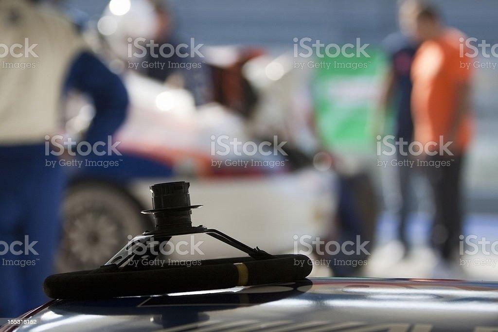 Race preparation - Steering wheel stock photo