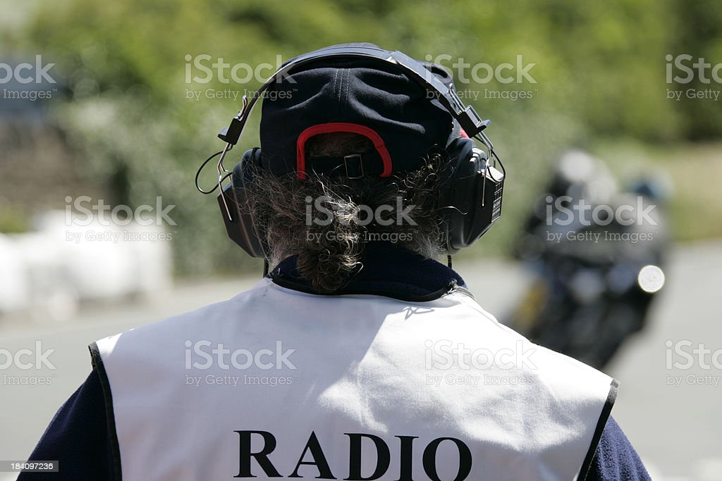 race radio man royalty-free stock photo
