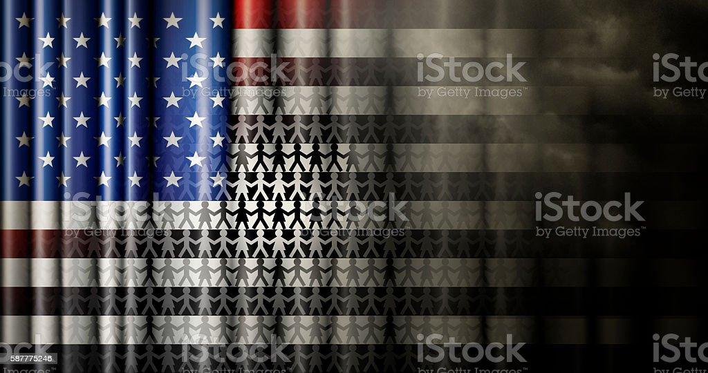 Race Relations United States Flag stock photo
