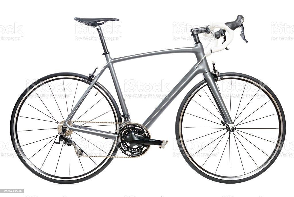 Race road bike isolated on white background stock photo