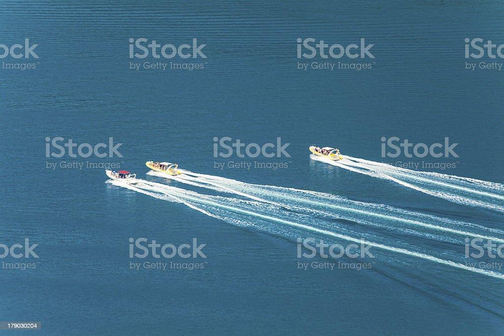 Race speedboats royalty-free stock photo
