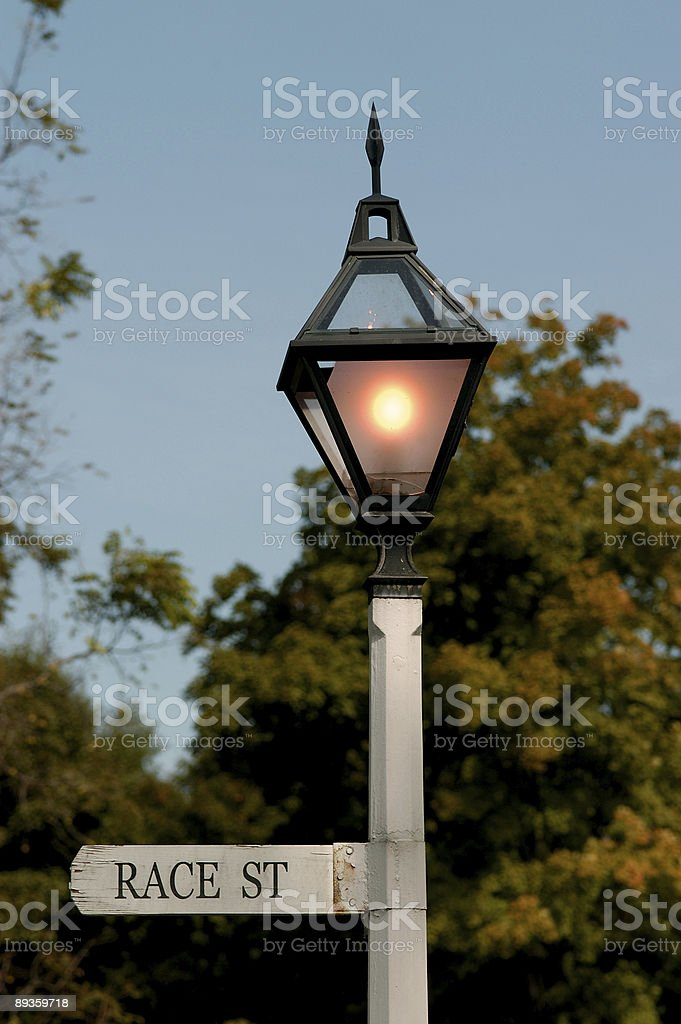 race street sign and llight royalty-free stock photo