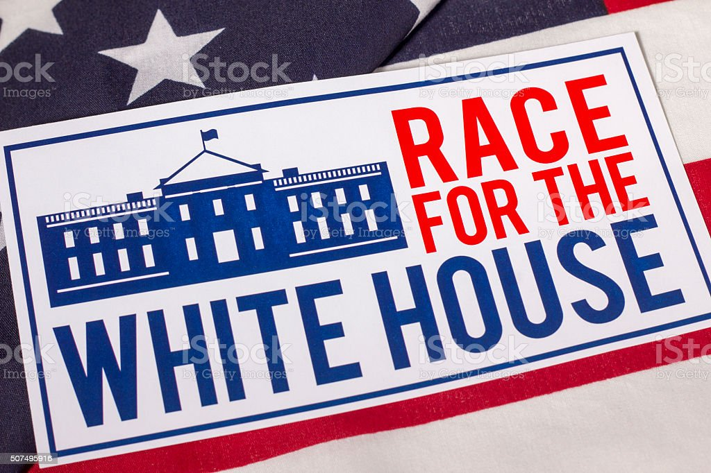 Race to the White House Presidential Election stock photo