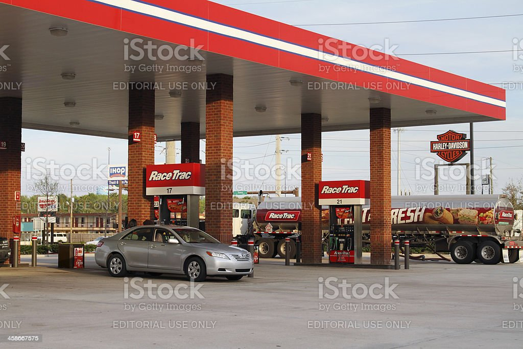 Race Trac gas station stock photo