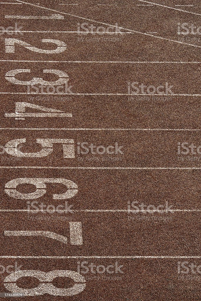 Race Track for sport in number one, two and three royalty-free stock photo