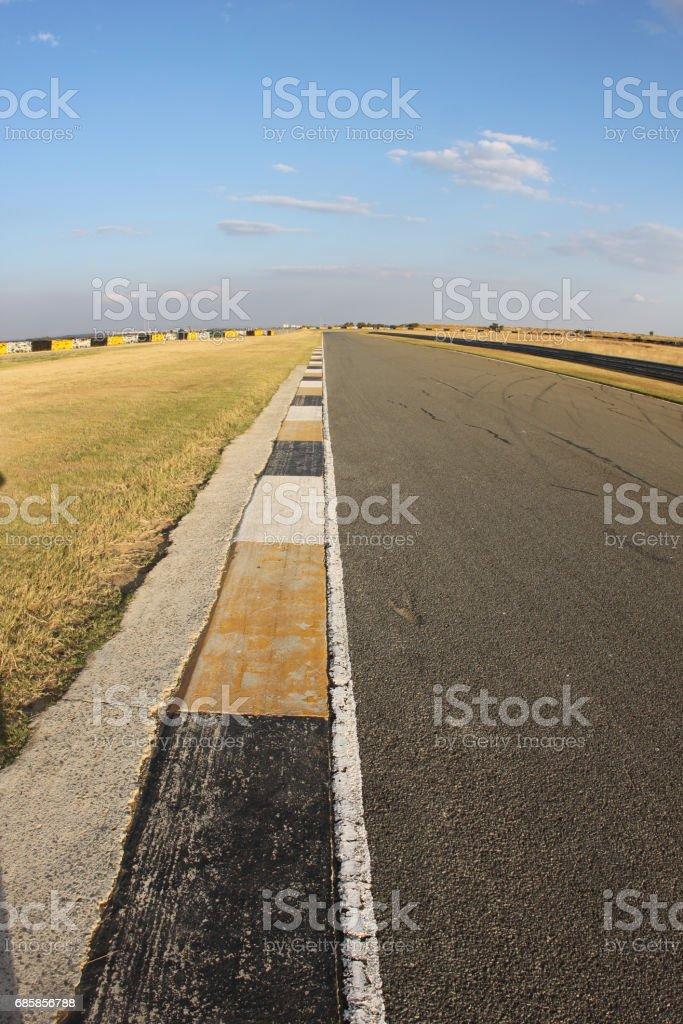 Race track kerbing stock photo