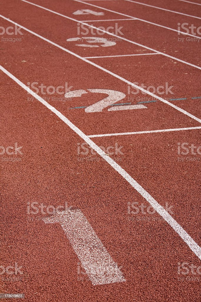 Race Track Numbers royalty-free stock photo