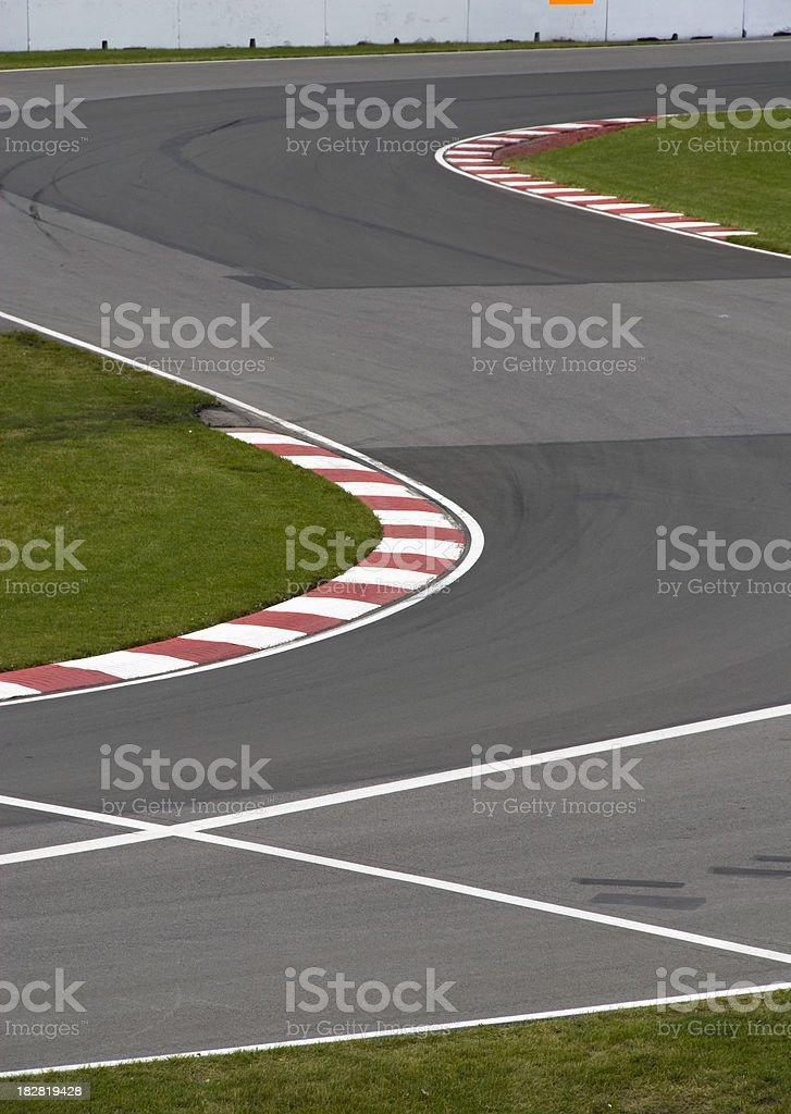 Race track stock photo