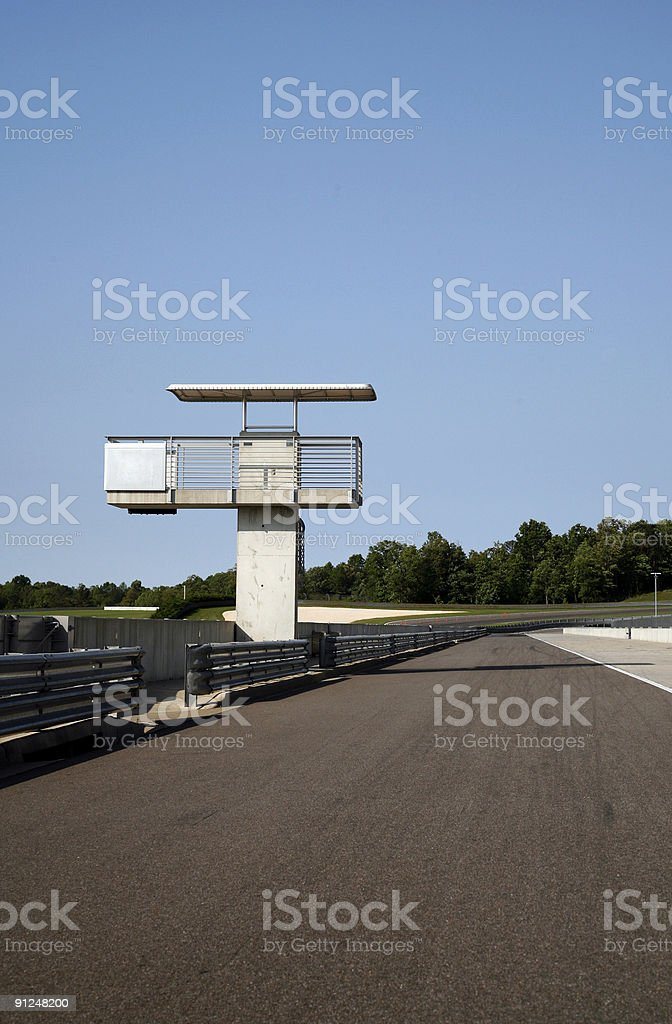 Race Track Pit Straight royalty-free stock photo