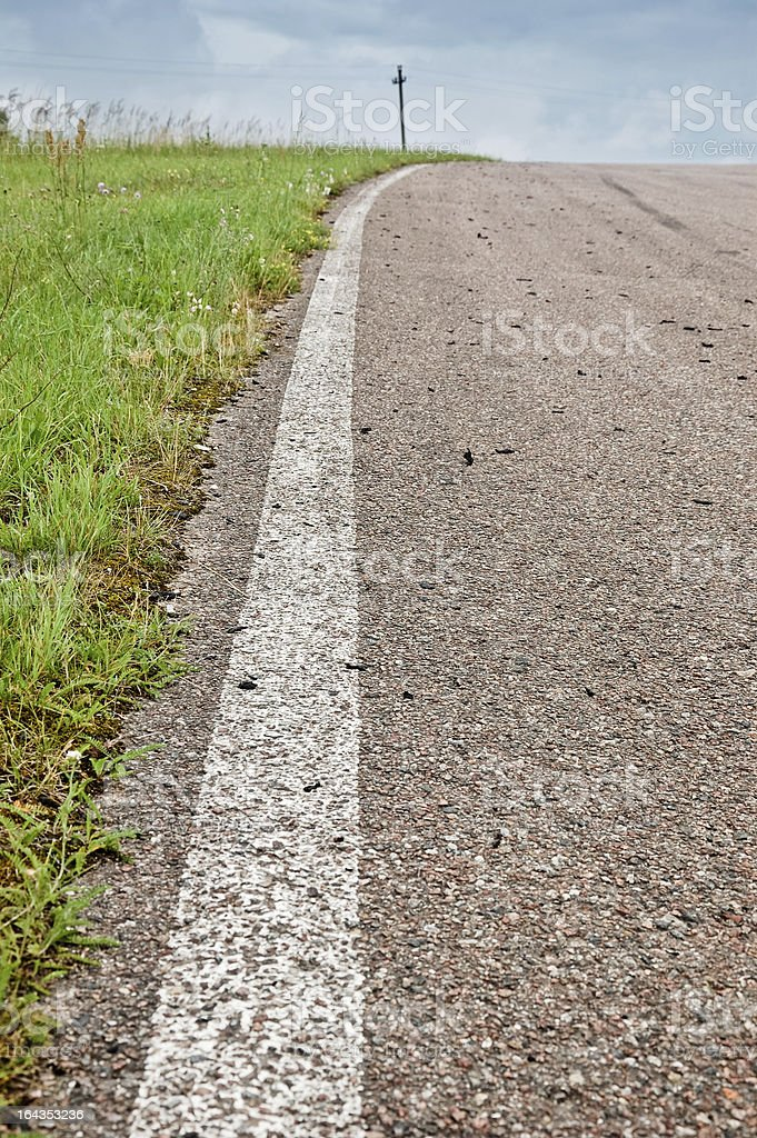 Race track side marking royalty-free stock photo