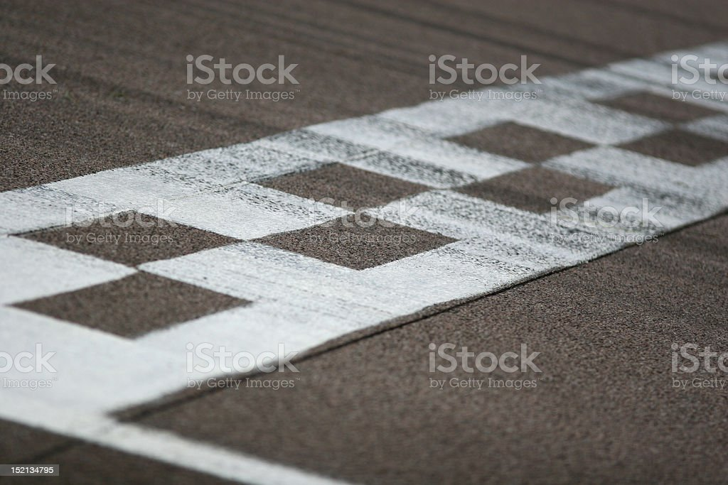 Race Track Start and Finish Line stock photo