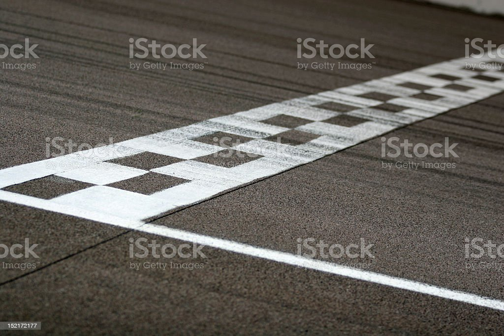 Race Track Start and Finish Line royalty-free stock photo