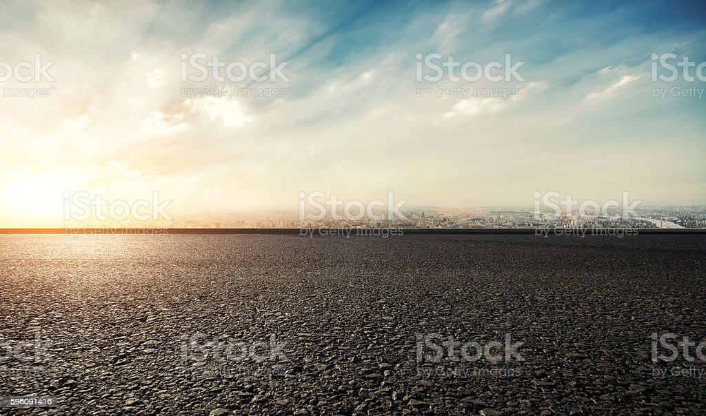 Race Track Sunset stock photo