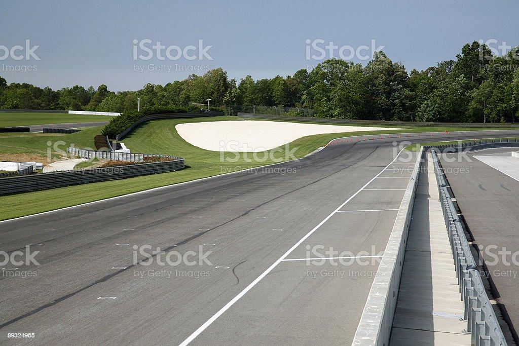Race Track Turn stock photo