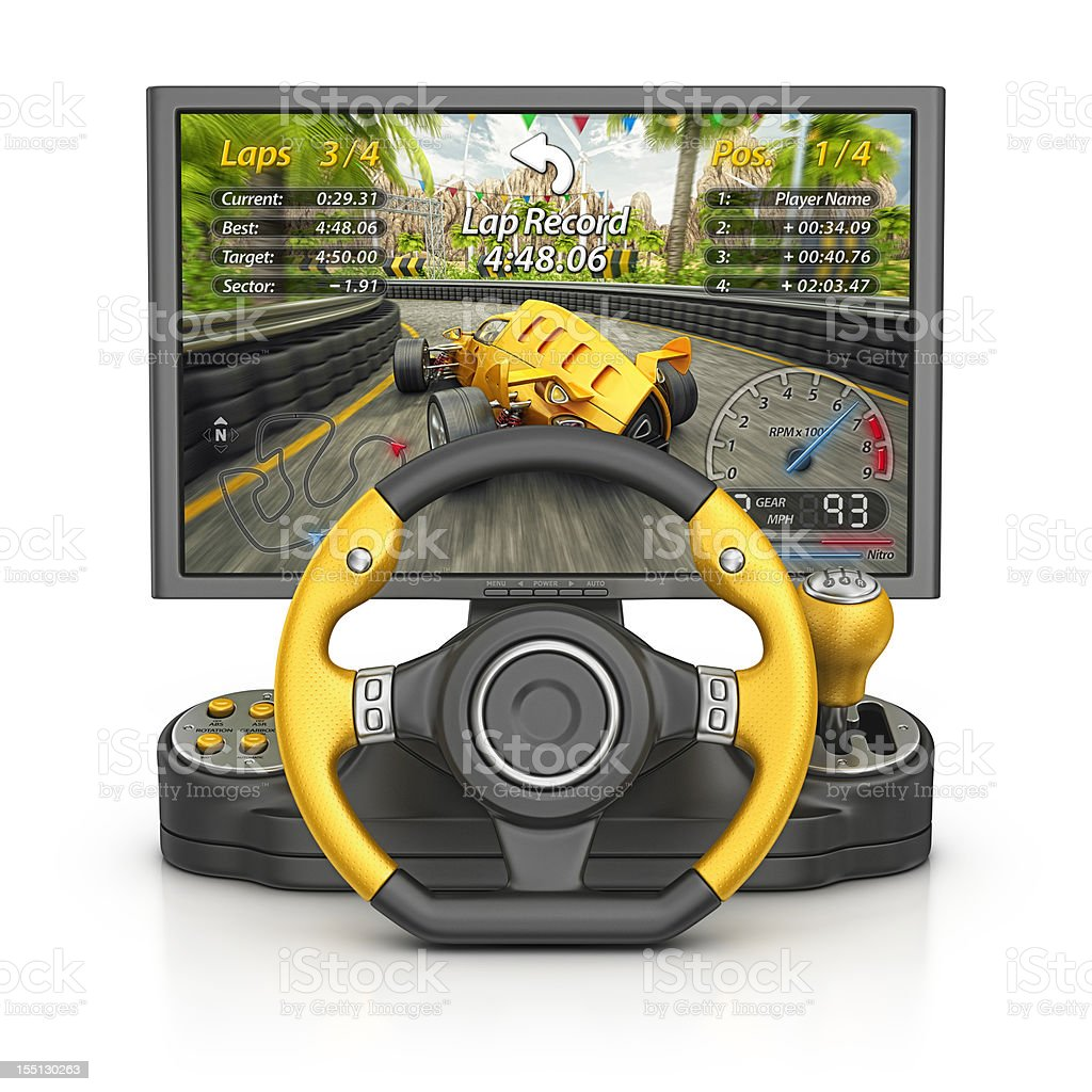 race video game stock photo