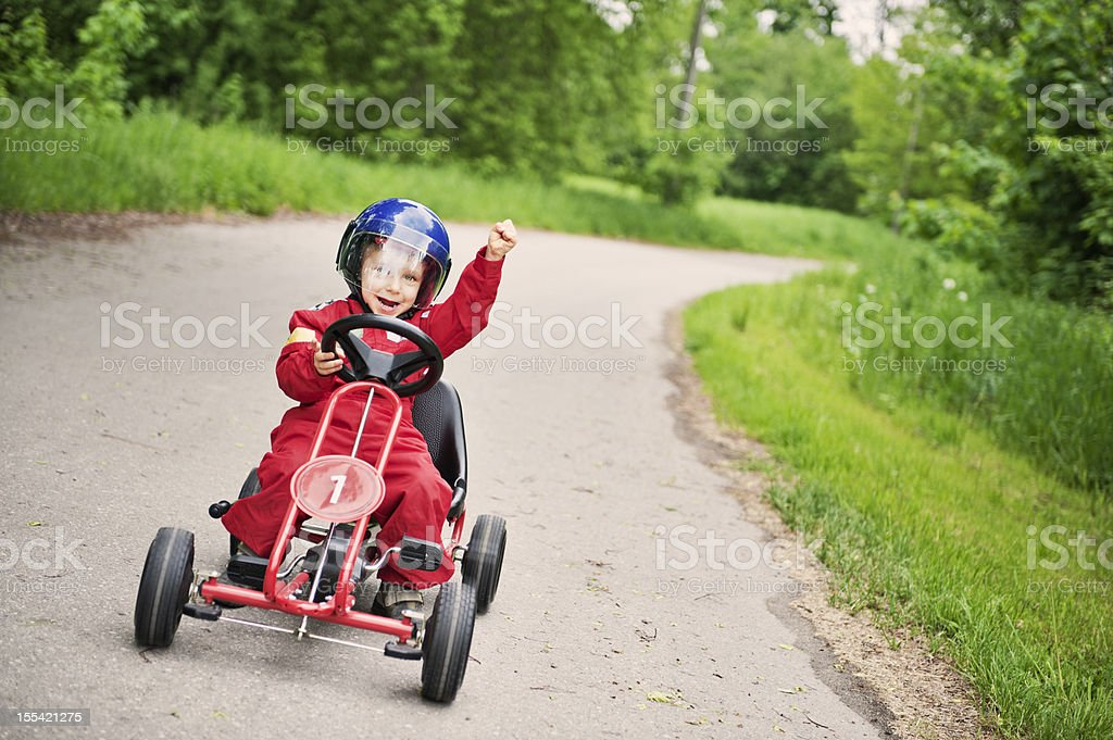 Race winner royalty-free stock photo