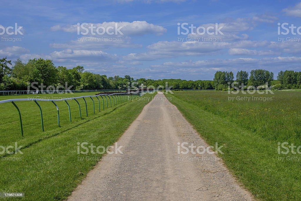 racecourse stock photo
