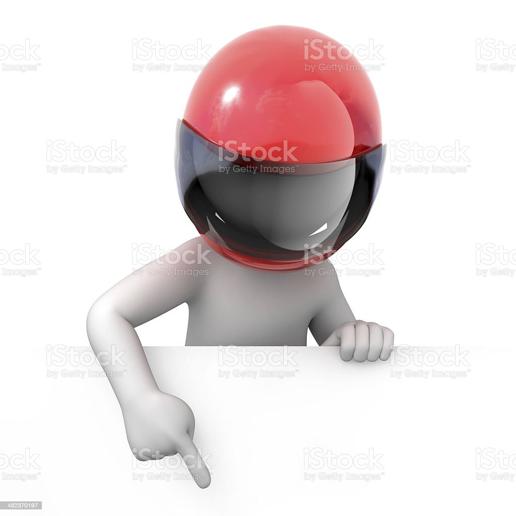 racer points finger down royalty-free stock photo