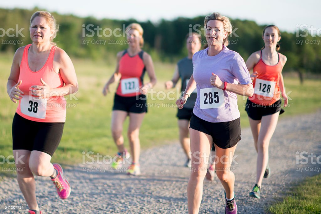 Racers Doing a 5K stock photo
