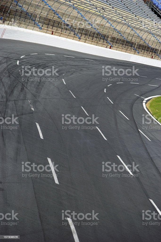 Racet rack turn royalty-free stock photo