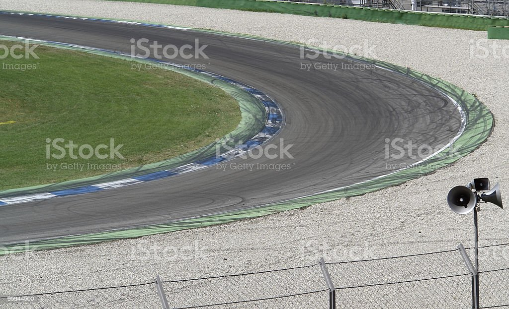 racetrack curve royalty-free stock photo