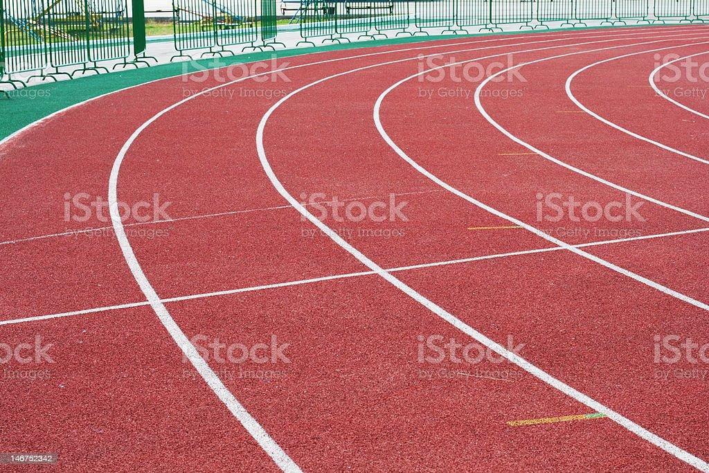 Racetrack in stadium royalty-free stock photo
