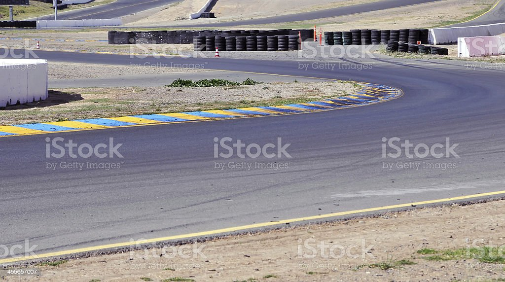 Racetrack stock photo
