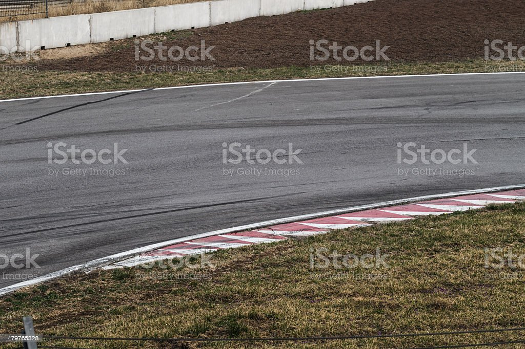 Racetrack stock photo