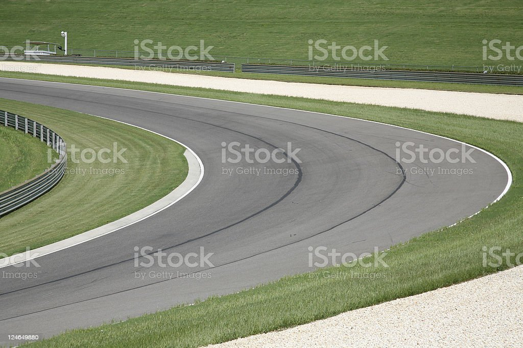 Racetrack Turn royalty-free stock photo