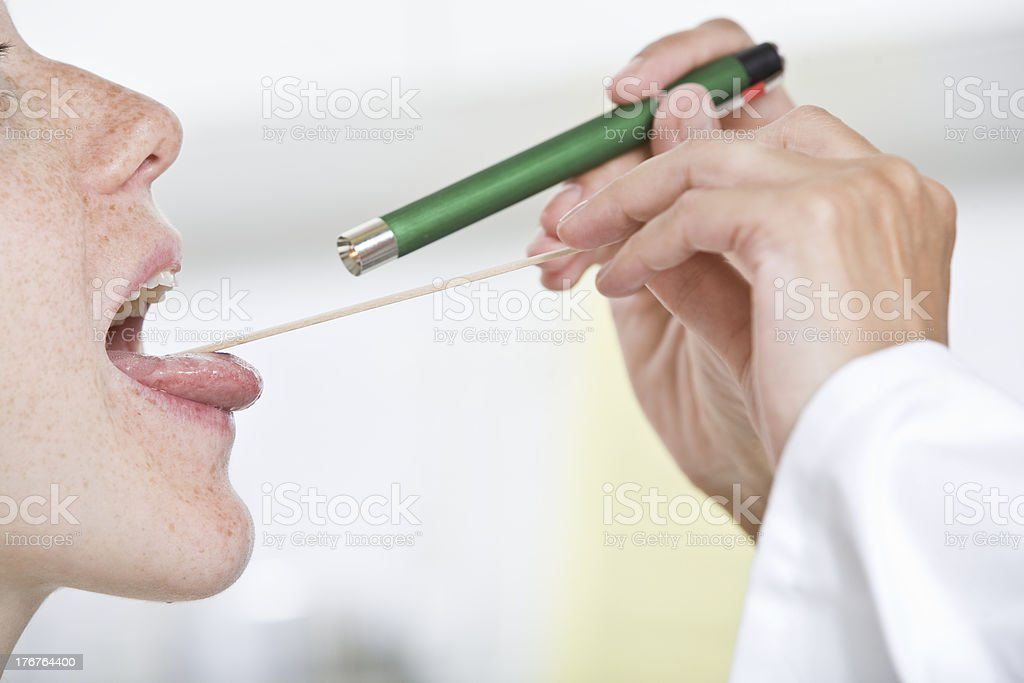 Rachenuntersuchung stock photo