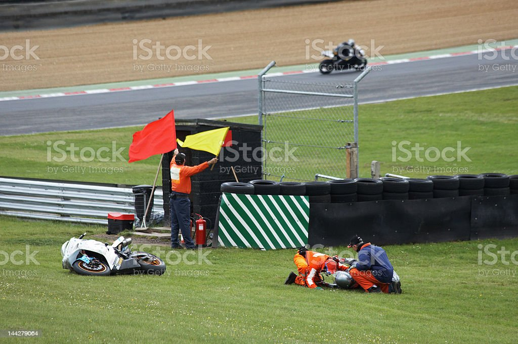 Racing accident royalty-free stock photo