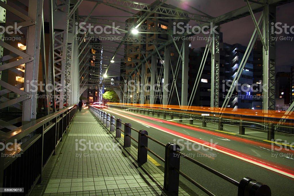 Racing Across the Sumida stock photo