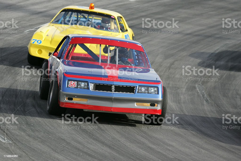 Racing Around the Oval royalty-free stock photo