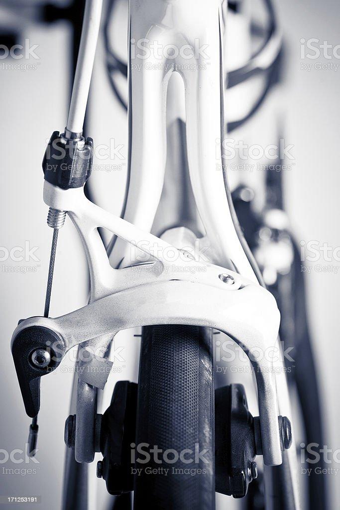 Racing bike brakes royalty-free stock photo