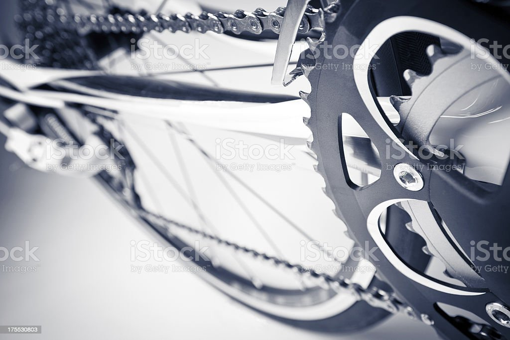 Racing bike close-up royalty-free stock photo