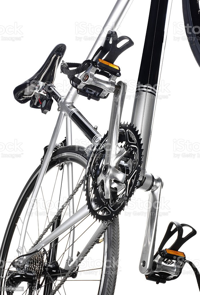Racing bike detail stock photo