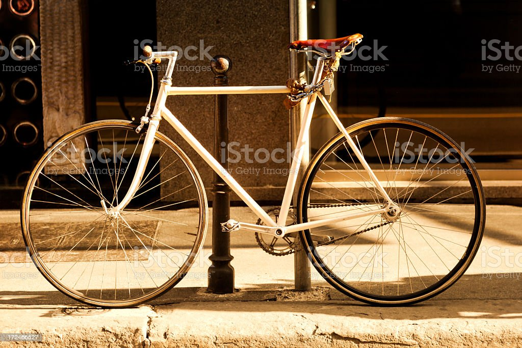 racing bike in Italy royalty-free stock photo