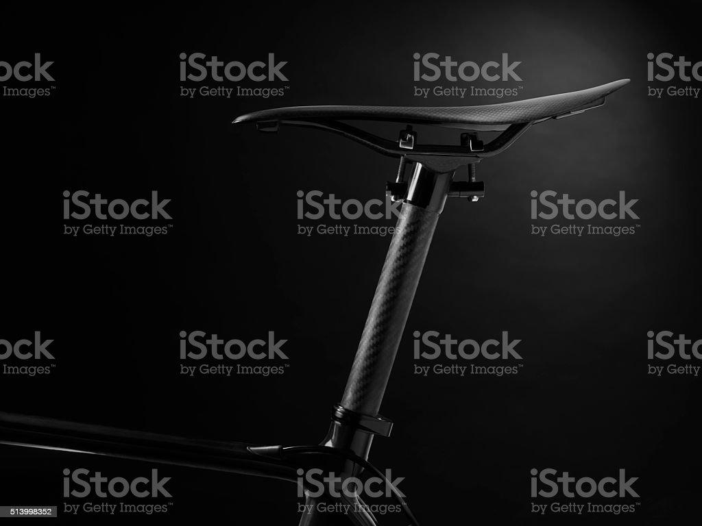 racing bike seat and frame - Stock Image stock photo