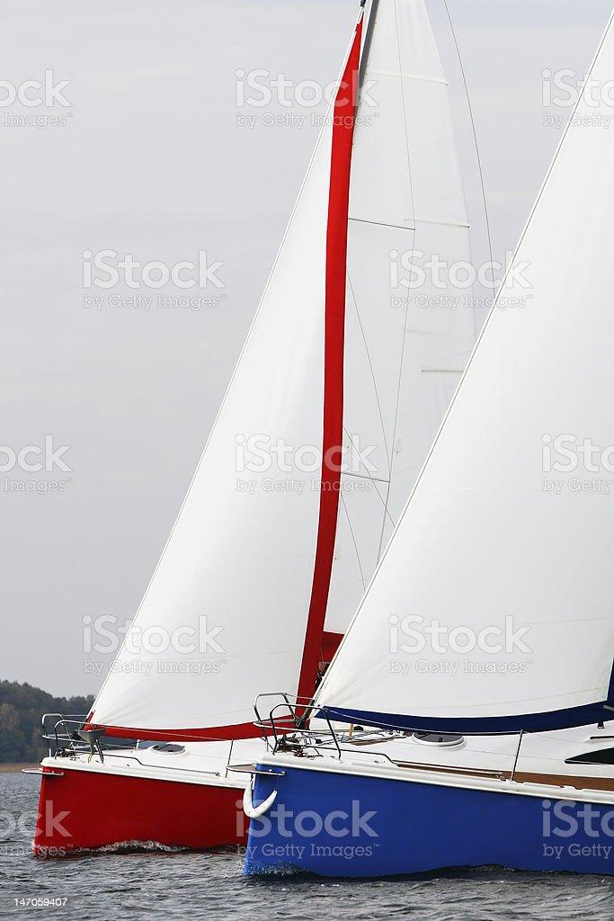 Racing Boats royalty-free stock photo