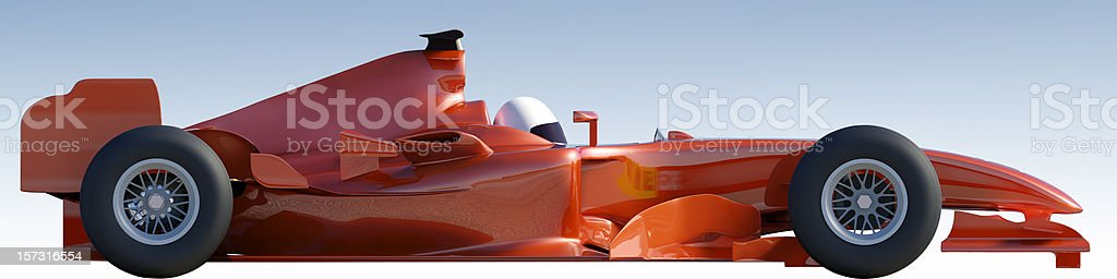 Racing Car with Clipping Path stock photo