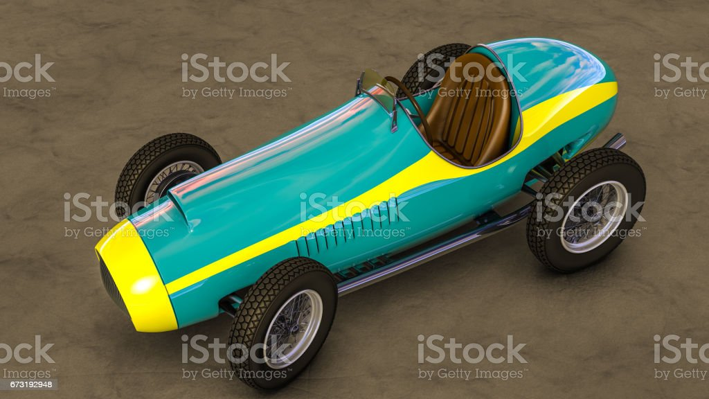 Racing car.3D render stock photo
